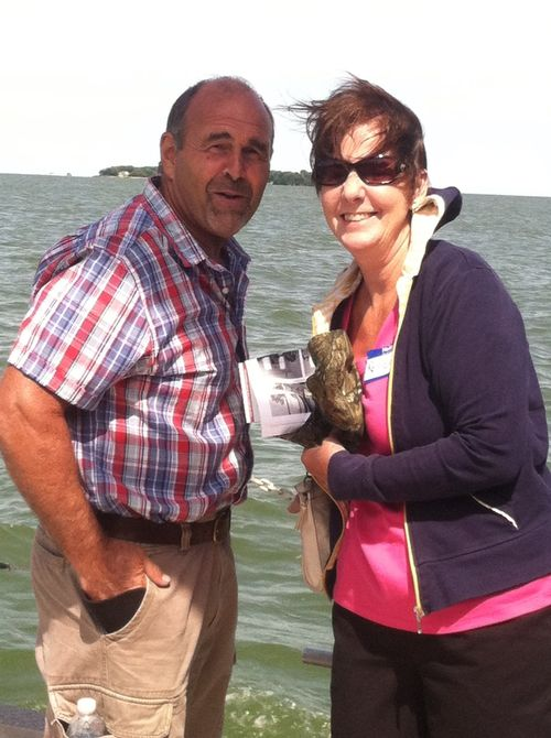 John & Renee Weidmayer visit Lake Erie in summer 2015. Photo Credit: Amy Gilhouse