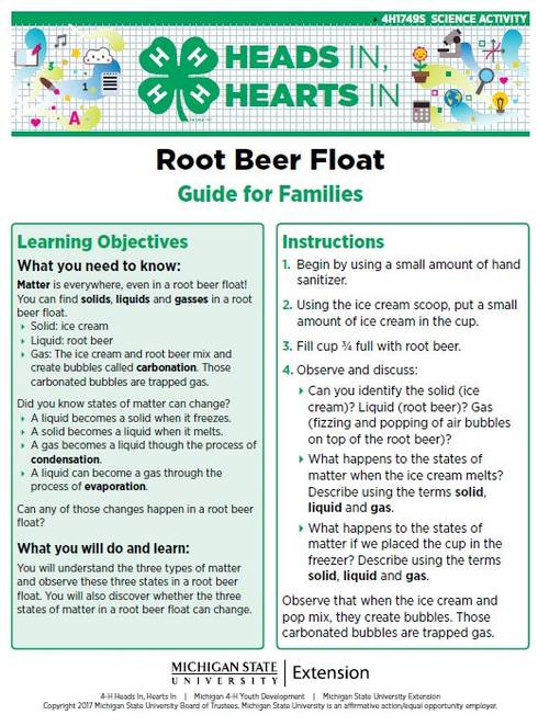 Root Beer Float cover page.