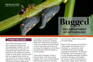 Entomology's department newsletter Bugged now available for fall 2018