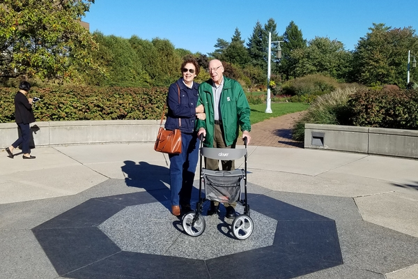 Leighton and Peggy Miller on Michigan State University's campus.