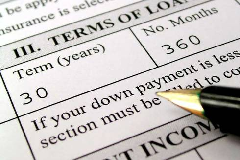 Terms on a loan application