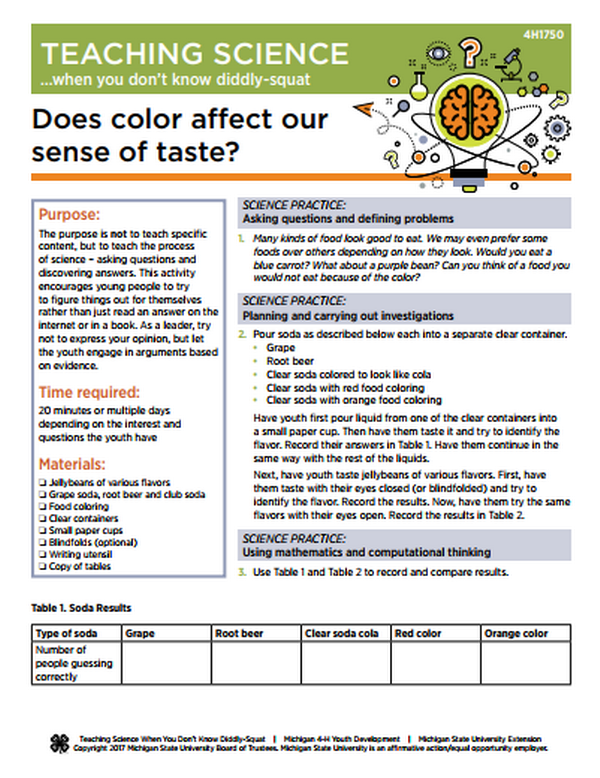 Teaching science when you don\'t know diddly-squat: Does color affect ...