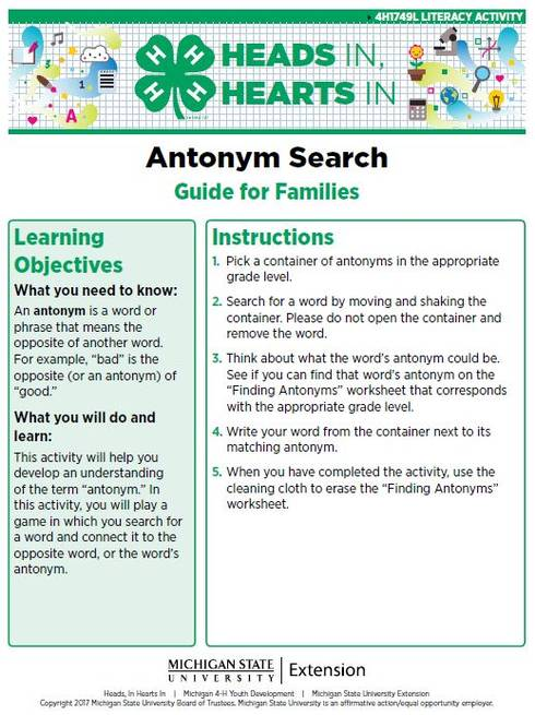 Antonym Search cover page.