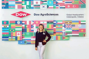 Paige Reetz at the Dow AgroSciences Headquarters