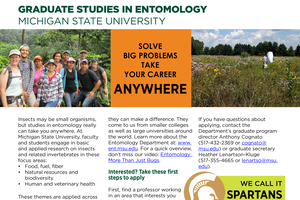 Graduate Studies in Entomology: Solve Big Problems, Take Your Career Anywhere