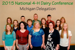 Eleven Michigan youth participate in the 2015 National 4-H Dairy Conference