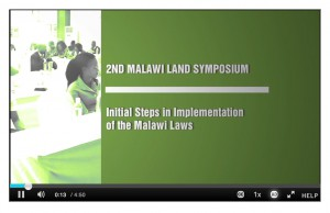 Malawi Land Symposium video