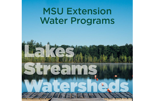Cover of MSU Extension Lakes, Streams and Watersheds booklet