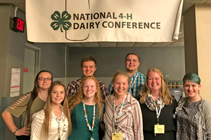 Michigan 4-H members at National 4-H Dairy Conference