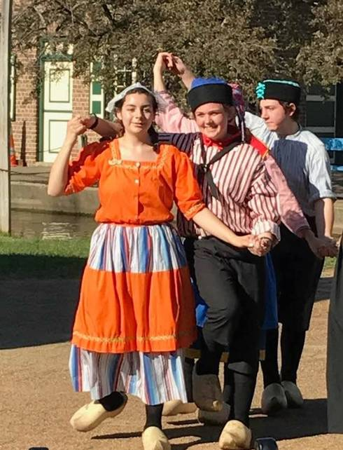 Dutch dancers at Holland's Tulip Time Festival. Photo by Lana Frody.