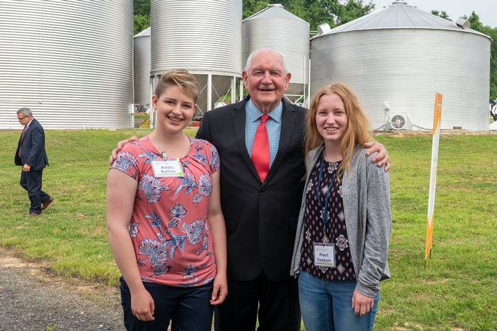 Battel and Daskam with U.S. Secretary of Agriculture Sonny Perdue.