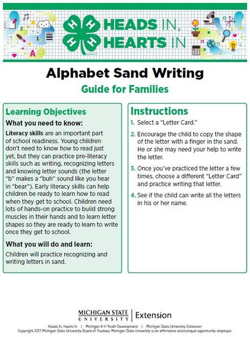 Alphabet Sand Writing cover page.