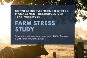 Farm stress research study: Helping Michigan farmers through text message reminders