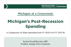 Michigan's Post-Recession Spending cover