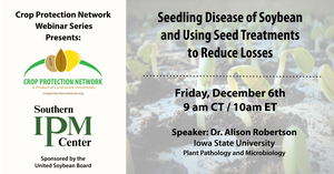 Soybean seedling disease and using seed treatments to reduce losses