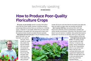 How to produce poor-quality floriculture crops
