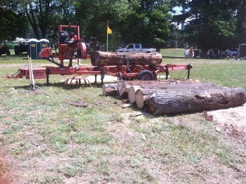Portable sawmills are a great option to process just a few trees for quality wood products. (Photo: Don Brown, sawmill operator)