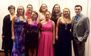 The Michigan 4-H Congress delegation poses at the National 4-H Congress Gala.