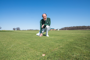 Joe Vargas led the efforts at MSU Hancock Turfgrass Research Center to develop Flagstick which has resistance to dollar spot.