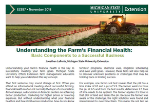 brochure cover of Farm Financial Health