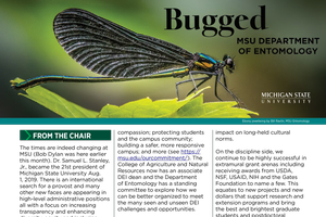Cover of Fall 2019 issue of Bugged newsletter