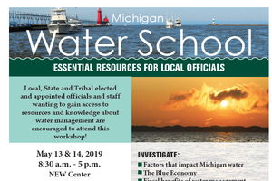 Full scholarships available for Michigan Water School workshop being held in Ann Arbor, May 13-14, 2019
