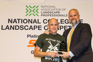 The National Association of Landscape Professionals names Marcus Duck the Outstanding Educator of the Year