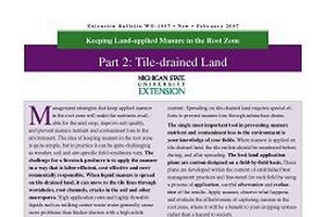 Keeping Land-applied Manure in the Root Zone - Part 2: Tile-drained Land (WO1037)
