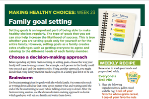 Making Healthy Choices: Week 23