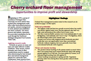 Cherry Orchard Floor Management: Improve Profit and Stewardship (E2890)