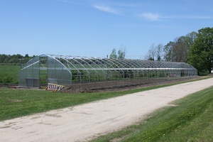 Hoophouse at MSU UPREC's North Farm