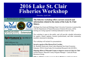 Interested in muskie, bass or invasive species? Learn more at the Lake St. Clair Fisheries Workshop!