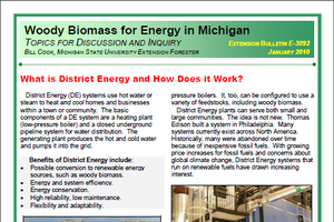 Woody Biomass for Energy in Michigan: What is District Energy and How Does it Work? (E3092)