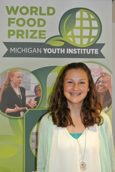Student Sarah Laurenz at Youth World Food Prize