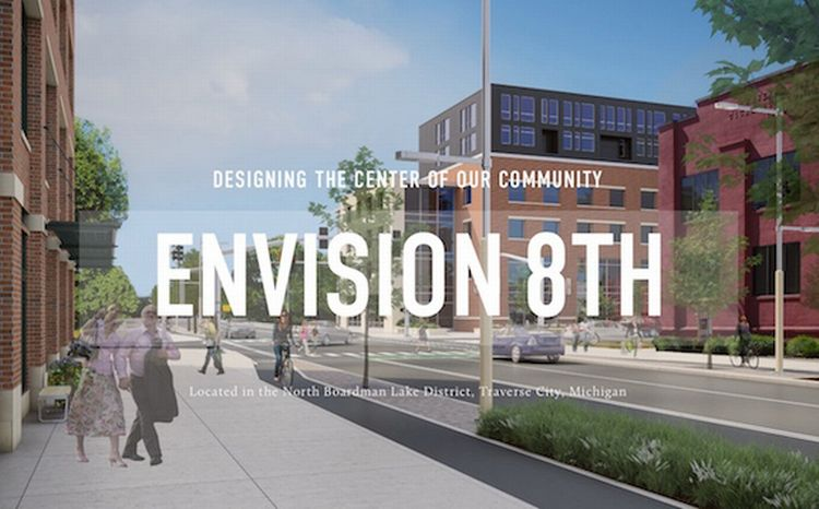 This rendering from the Envison 8th website, shows what the 8th Street Corridor could look like