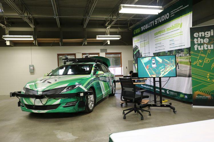 MSU Mobility Studio with autonomous vehicle.