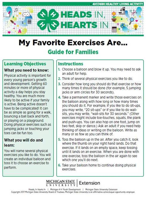 My Favorite Exercises Are... cover page.