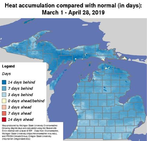 Heat accumulation map