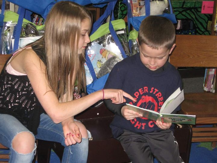 Luce County 4-H Reading Buddies match Bailey and Oren.