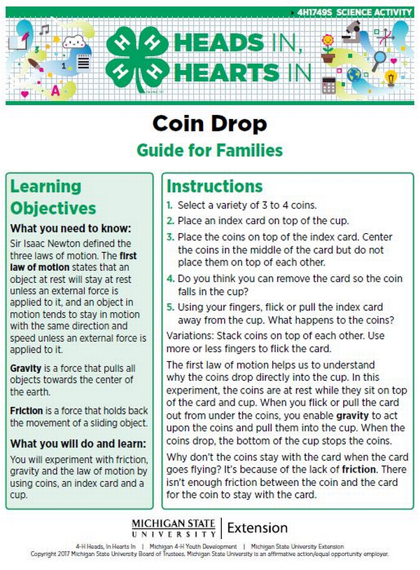 Coin Drop cover page.