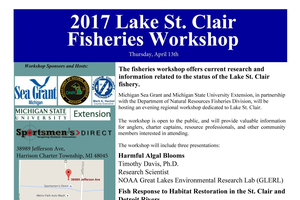 The 2017 Lake St. Clair Fisheries Workshop will emphasize habitat restoration