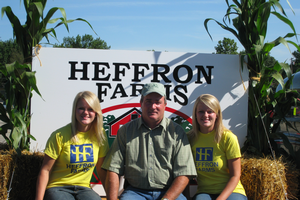 Dennis Heffron with his two twin daughters Kendra and Kerra.