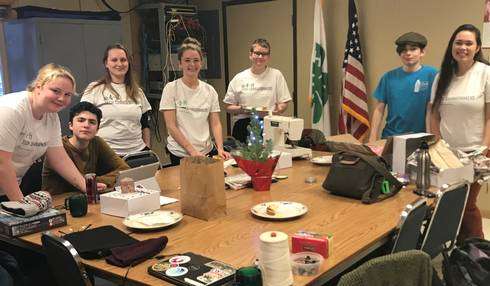 Alpena County 4-H Changemakers gather as a group.