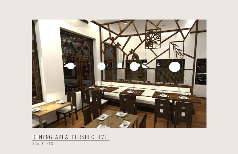 View 6: Perspective Rendering of the Dining Area