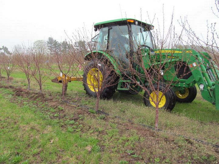 Root pruner used at the Northwest Michigan Horticulture Research Center in 2014.
