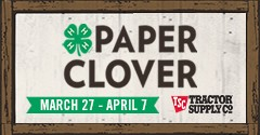 Advertisement for Paper Clover Campaign from March 27-April 7.