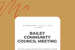 April Bailey Community Council Meeting