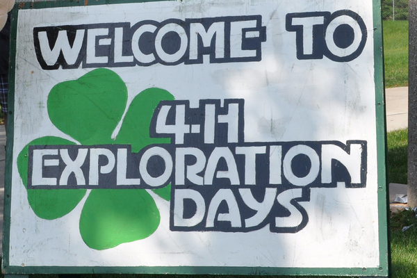 4-H Exploration Days sign.