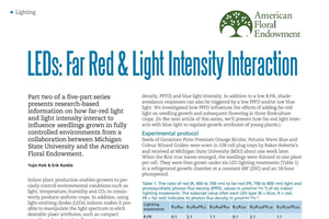 LEDs: Far red & light intensity interaction