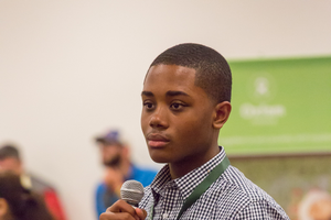 Omari Garrett at the 2016 World Food Prize Global Youth Institute.